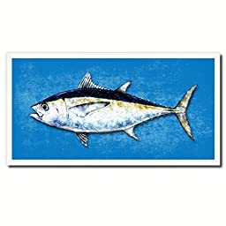 Tuna Blackfin Fish Art 14210 Custom Picture Frame Wall Home Decor Nautical Beach Fisherman Shabby Chic Gift Ideas - Blue 20\
