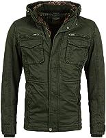 Herren gefütterte Winterjacke mit Fell Kaputze Coat der Marke Young & Rich Jacke Parka Mantel in verschiedenen Farben