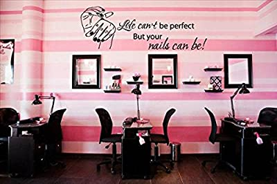 Wall Decal Vinyl Sticker Decalsdecor Hair Salon Your Nails Can Be Perfect Manicure Girl Women Bedroom Fashion Cosmetic(r1227)