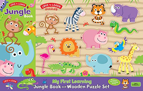 Love To Learn Book and Wooden Puzzle Set - Jungle