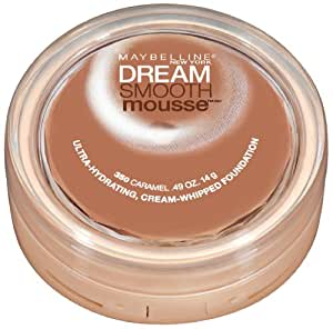Maybelline New York Dream Smooth Mousse Foundation, Caramel, 0.49 Ounce