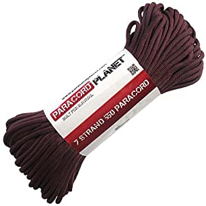 Paracord Planet 100' 550lb Type III Burgundy Paracord