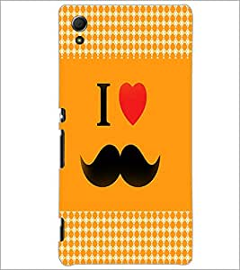 PrintDhaba Mustache D-4580 Back Case Cover for SONY XPERIA Z4 (Multi-Coloured)