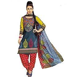Srusti Enterprise Women's Unstitched Cotton dress material (SE-07_Multi_Free Size)