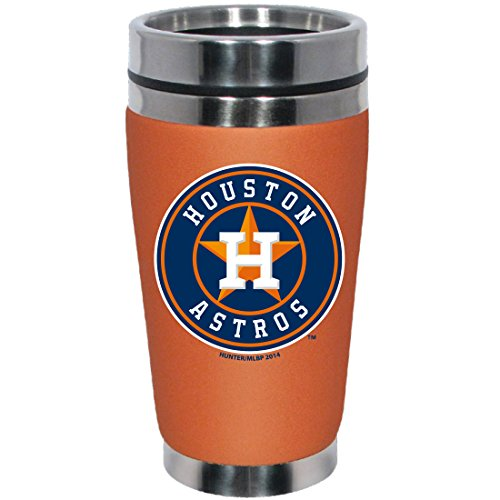 MLB Houston Astros Stainless Steel Travel Tumbler with Neoprene Wrap, 16-Ounce, Team Color