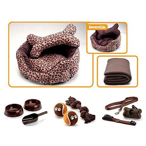 luxor-linens-12-piece-pet-set-ultimate-value-pet-bed-pillow-blanket-feeding-bowls-scoop-tennis-balls