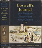 Boswells Jounal of a Tour to the Hebrides with Samuel Johnson 1773