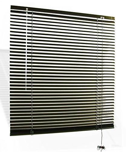 jalousie aluminium alu plissee jalusie schalusie klemmtr ger 25 mm lamellen dunkelbraun. Black Bedroom Furniture Sets. Home Design Ideas