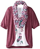 Beautees Big Girls Top with Cozy and Scarf