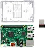 Raspberry Pi 2 Kit--Includes Raspberry Pi 2 Model B --1GB RAM--900MHz Quad-Core CPU (Newest Version)--Clear Transparent Case--Wifi Adapter