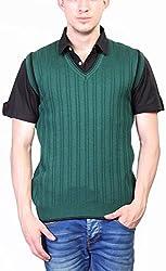 Priknit Men's Blended Sweater (SH-4500-42 D GREEN, D Green, 42)