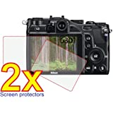2x Nikon Coolpix P7000 Digital Camera Premium Clear LCD Screen Protector Cover Guard Shield Film Kit, no cutting is required! Exact fit and satisfaction guaranteed!