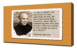 Amazon.com: Thomas Merton Quotes 5 - Canvas Art Print: Posters