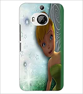 PrintDhaba Cute Girl D-2283 Back Case Cover for HTC ONE M9 PLUS (Multi-Coloured)