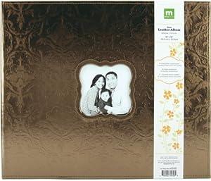 "Making Memories Embossed Leather 3-Ring Album W/Window 12""X12""-Metallic Bronze MM34626"