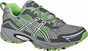 ASICS Women's GEL-Venture 4 Running Shoe,Charcoal/Frost/Green,11 M US
