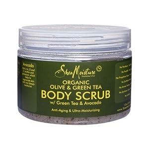 Shea Moisture ORGANIC Olive & Green Tea Body Scrub 12oz [SEALED]