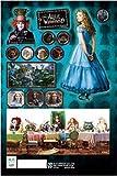 《alice in woderland/アリス・イン・ワンダーランド-Aブルー》シートステッカー☆ディズニー映画シール通販☆
