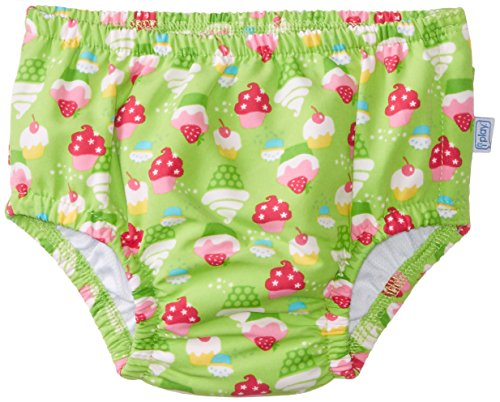 I Play. Baby-Girls Infant Ultimate Snap Ruffle Swim Diaper-Classic, Lime, 18-24 Months