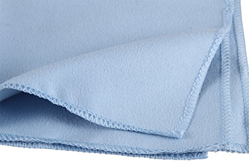 E-home Extra Large Microfiber Cleaning Cloths - 12 Pack - 12x12 Inch, Wonderful for Eyeglasses,Iphone,IPads,Lenses,Screens and Other Delicate Surfac