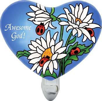 Nightlight-NL334R-Daisies & Ladybugs/Awesome God
