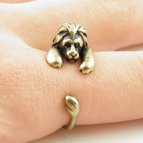 Lion Animal Wrap Ring - Bronze for Women