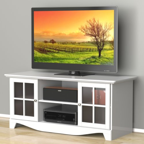 Nexera 101203 Pinnacle Center Channel TV Stand, 56-Inch, White