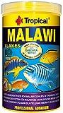 Tropical Malawi Mbuna Cichlids special flake vegetable high-protein fish food for daily feeding - 1200ml/220g