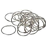 ZFE® 2 Inner DiaMetal Looseleaf Binder Rings for Scrapbooking Book Memo Pack of 20Pcs