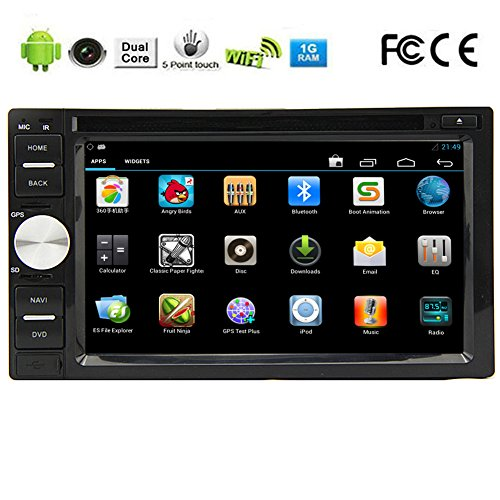 Android 5.1 OS 3D GPS Capacitive Touch Screen Auto DVD CD VCD BT Audio Electronics Car Video Player In Dash PC Radio Receiver Double Din RDS Car Stereo Autoradio Audio Sub AMP iPod receiver