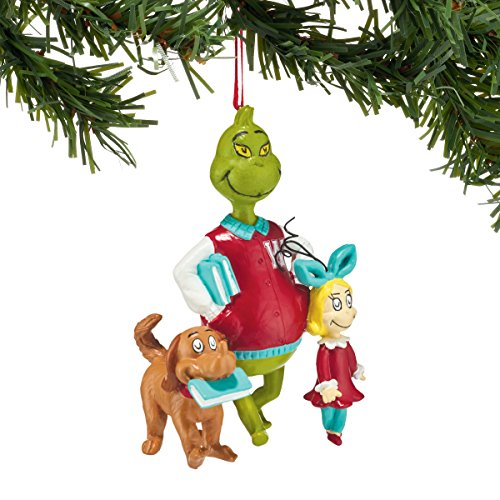 Department 56 Classics Grinch Walking to Class Ornament (Grinch Hat)