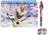 Disney Frozen Olaf The Snowman Spiral Autograph Book and 1 Pen