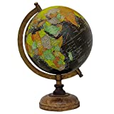 13 decorativa giratoria Negro Océano Globe World Table Decor Tierra Geografía
