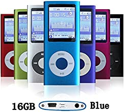 G.G.Martinsen 16 GB Mini Usb Port Slim Small Multi-lingual Selection 1.78 LCD Portable Mp3/Mp4, Mp3Player , Mp4Player , Video Player , Music Player , Media Player , Audio player With Photo Viewer , E-book Reader , Voice Recorder ,Games & Movie-Blue