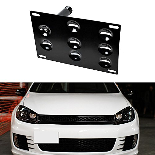 iJDMTOY Front Bumper Tow Hole Adapter License Plate Mounting Bracket For Volkswagen MK5 MK6 Golf GTi Jetta Rabbit R32 EOS, Audi A3 TT, etc (Mk5 Jetta Intake compare prices)