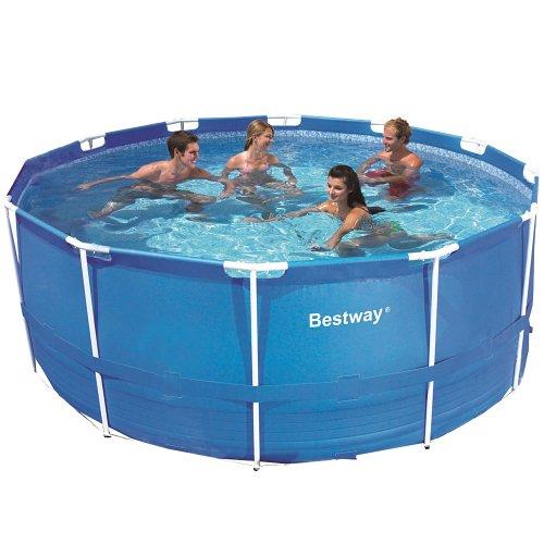 Bestway 366x122 Schwimmbecken Swimming Pool Schwimmbad Frame Metal 12447
