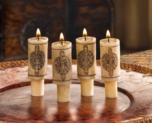 Wine Bottle Cork Scented Fragrance 4 Piece Candle Set