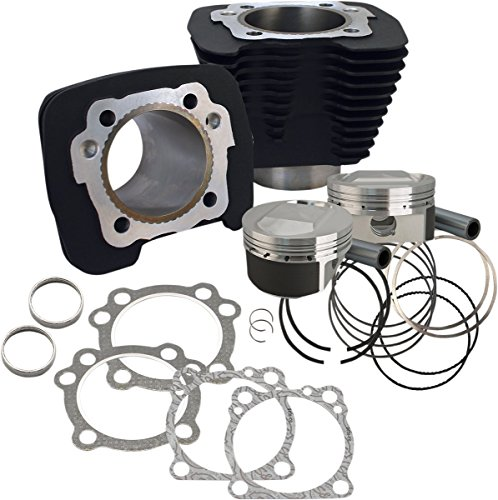 S&S Cycle 1250CC Conversion Kit CYLINDER KT 1250 BLK 11.2