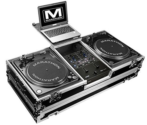 Marathon Professional Coffin for 2 Turntables Fits Rane 61 Serato Mixer with Wheels and Laptop Shelf (Professional Dj Turntables compare prices)
