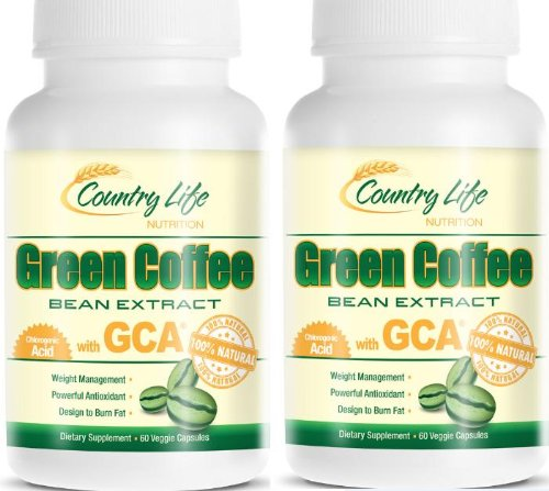 "Two Bottles Of 100% Pure Green Coffee Bean Extract With Cga, 800Mg Per Capsule, 60-Day Supply. 120 Caps. Zero Fillers, Zero Binders, Zero Artificial Ingredients, Plus Free Ebook ""How To Boost Your Metabolism"" With Order. A $14.99 Value"