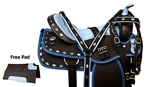BLUE COWGIRL WESTERN BARREL RACING PLEASURE TRAIL COMFY