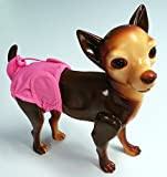 (2-Pack) Washable Dog Diapers, Navy Blue, Average Waist Size: 15