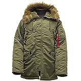 ALPHA社 #20094 N-3Bタイト フライトジャケットS221セージ