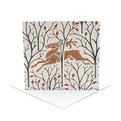 V&A Christmas Cards - Forest Deer (Pack of 10, Square)  RF20F  EVAEX