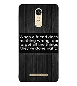 PrintDhaba Quote D-3977 Back Case Cover for XIAOMI REDMI NOTE 3 (Multi-Coloured)