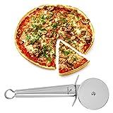Yoheer(TM) Stainless Steel Full Size Pizza Shovel/Heavy Duty Pizza Cutter Wheel/Cheese Grater Lemon Zester, 3 in Package.