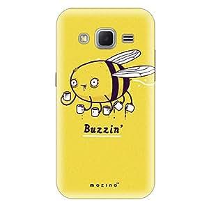 Mozine Buzzin Bee printed mobile back cover for Samsung core prime