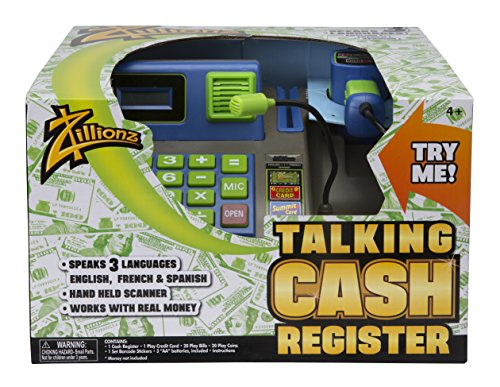 Zillionz Talking Cash Register - Blue (Count And Play Cash Register compare prices)