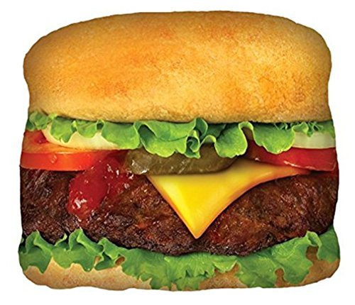 iscream Tasty Treats Cheeseburger Microbead Pillow (Cheese It Pillow compare prices)