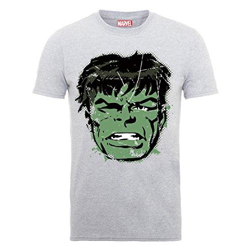 Hulk Face Distress Mens T-shirt Picture